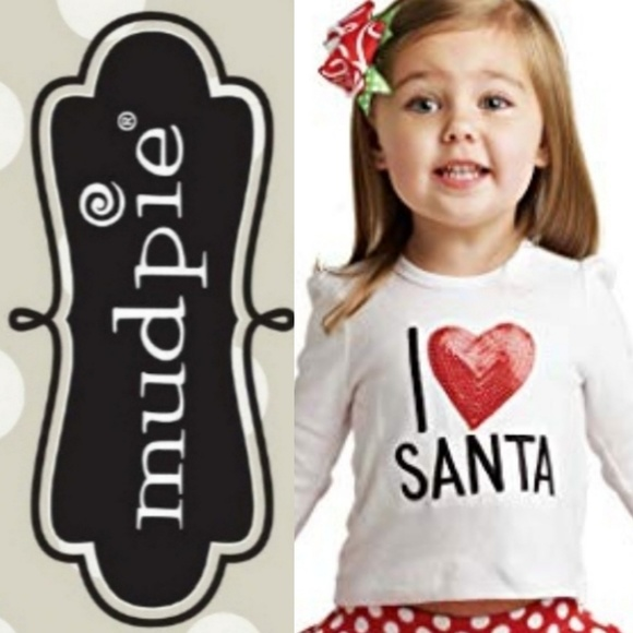 Mud Pie Other - Mud Pie I ♥️ Santa Set